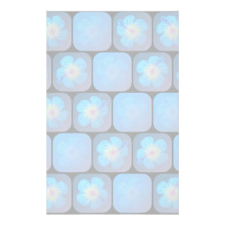 Hibisco en gel azul  papeleria de diseño