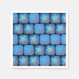 Hibisco en gel azul servilleta desechable
