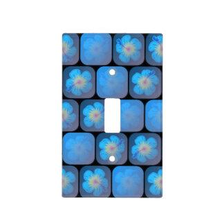 Hibisco en gel azul tapas para interruptores