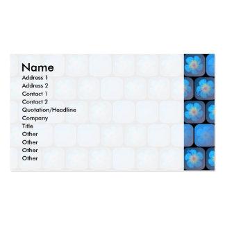 Hibisco en gel azul tarjetas de visita