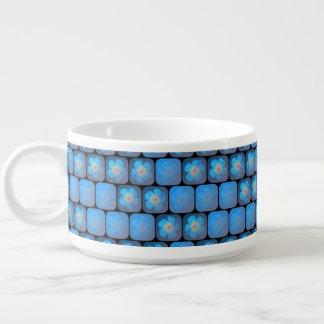 Hibisco en gel azul tazón