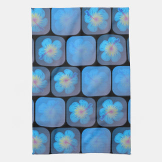 Hibisco en gel azul toalla de mano