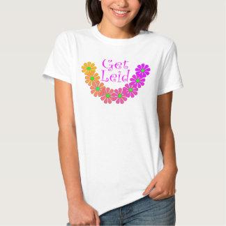 Hibisco floral de Luau de los leus coloridos de la Remeras