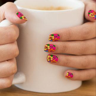 Hibisco floral pegatina para uñas