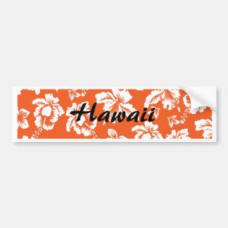 Hibisco hawaiano anaranjado pegatina para auto