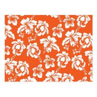 Hibisco hawaiano anaranjado tarjeta postal