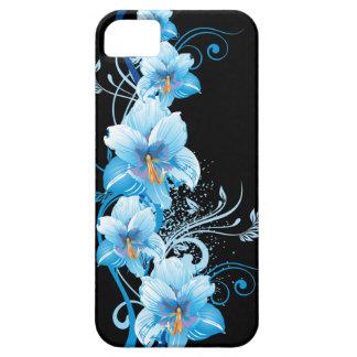 Hibisco hawaiano azul iPhone 5 carcasa
