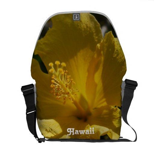 Hibisco hawaiano bolsas de mensajería