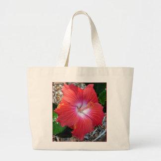 Hibisco hawaiano bolsa tela grande