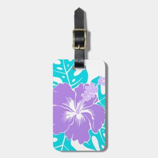 Hibisco hawaiano de la playa del Banzai floral Etiquetas Para Maletas