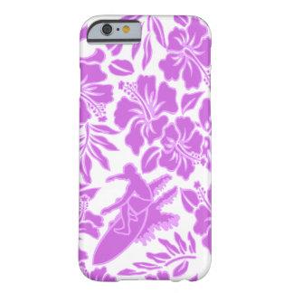 Hibisco hawaiano de Pareau de la resaca que Funda De iPhone 6 Barely There