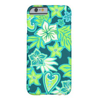 Hibisco hawaiano del corazón de la hawaiana funda de iPhone 6 barely there
