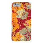 Hibisco hawaiano del punto de Iniki floral Funda De iPhone 6 Barely There