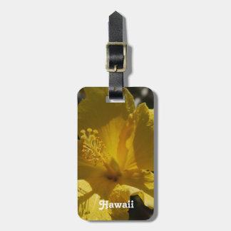 Hibisco hawaiano etiquetas maletas