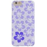 Hibisco hawaiano floral del acento de la isla de funda de iPhone 6 slim