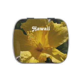 Hibisco hawaiano latas de caramelos