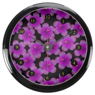 Hibisco hawaiano oscuro relojes aquavista