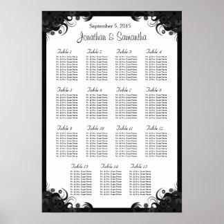 Hibisco negro 15 tablas que se casan que asientan poster