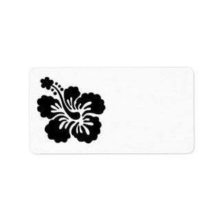 Hibisco negro etiqueta de dirección