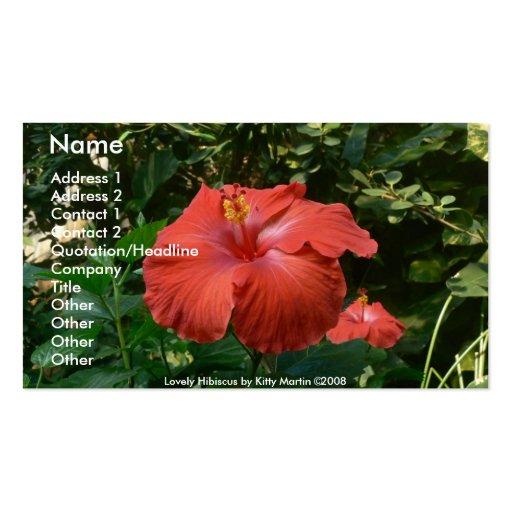 Hibisco precioso tarjetas de visita