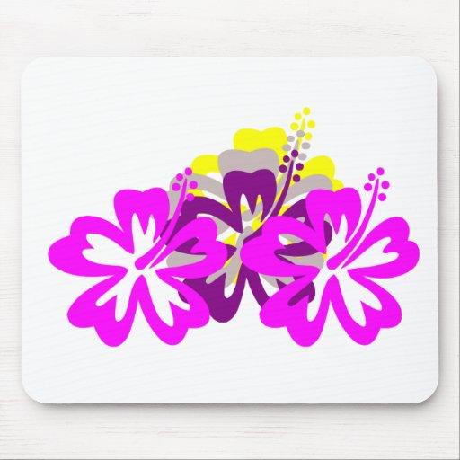 Hibisco púrpura de la mezcla tapete de ratón
