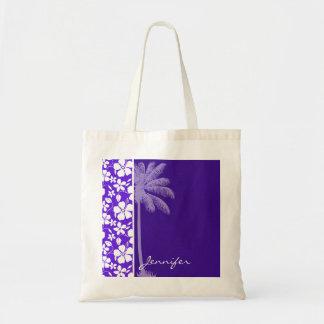 Hibisco púrpura tropical bolsas