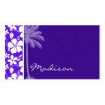 Hibisco púrpura tropical plantillas de tarjetas de visita