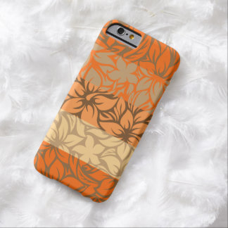 Hibisco rayado hawaiano de la bahía de Moloaa Funda Para iPhone 6 Barely There