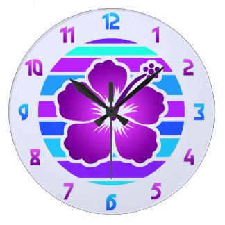 Hibisco Reloj Redondo Grande