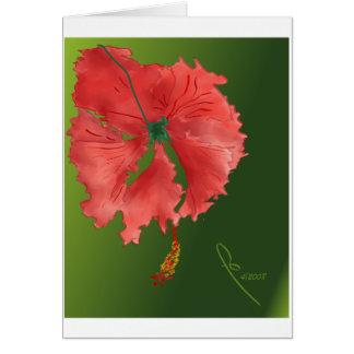 hibisco rizado tarjeta de felicitación