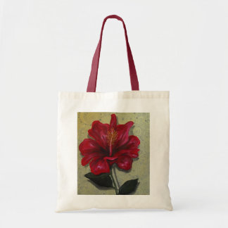 Hibisco rojo bolsa tela barata