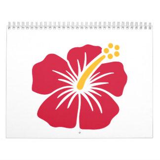 Hibisco rojo calendarios