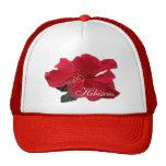 Hibisco rojo caliente gorra