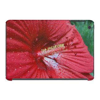 Hibisco rojo con las gotas de agua funda de iPad mini