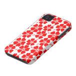 Hibisco rojo en la caja blanca del iphone 4 con la iPhone 4 Case-Mate fundas