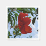 Hibisco rojo servilleta desechable