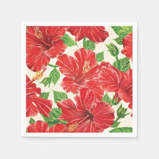 Hibisco rojo servilletas desechables