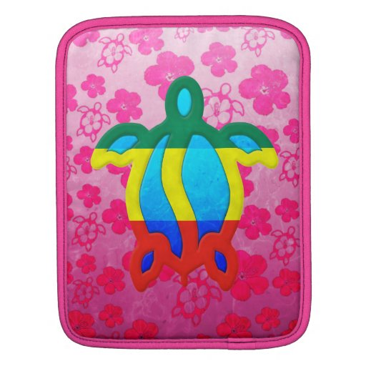 Hibisco rosado de Rasta Honu Fundas Para iPads