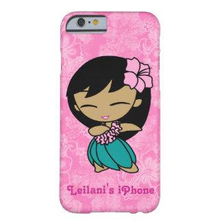Hibisco rosado del Hawaiian del chica de Hula de Funda Para iPhone 6 Barely There