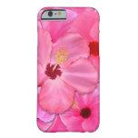Hibisco rosado funda de iPhone 6 slim