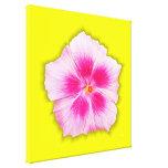 Hibisco rosado - personalizado impresiones de lienzo