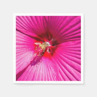 Hibisco rosado servilletas de papel