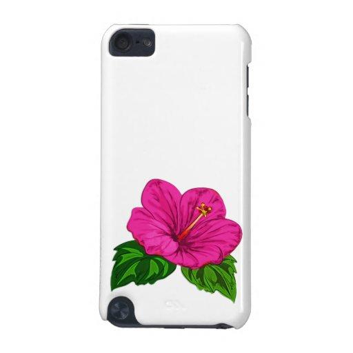 Hibisco rosado tropical vibrante funda para iPod touch 5G