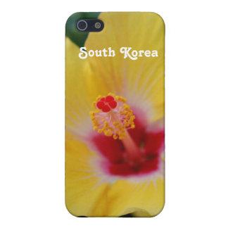 Hibisco surcoreano iPhone 5 fundas