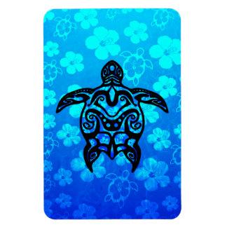 Hibisco tribal de la tortuga imanes