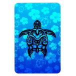 Hibisco tribal de la tortuga imán
