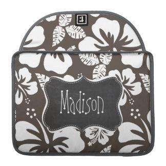 Hibisco tropical de color topo oscuro; Pizarra Funda Para Macbook Pro