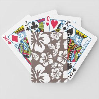 Hibisco tropical de color topo profundo baraja cartas de poker