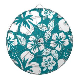 Hibisco tropical de la turquesa oscura