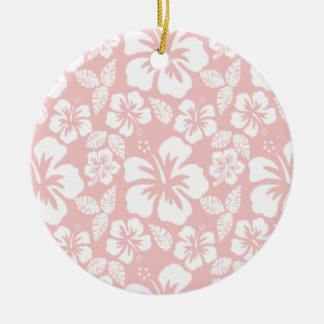 Hibisco tropical de los rosas bebés adorno